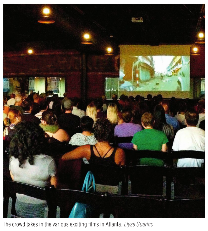 The crowd takes in various films in Altanta 2015