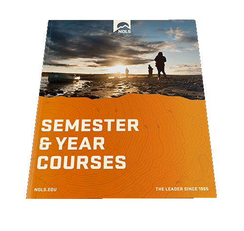 semester and year course brochure mockup