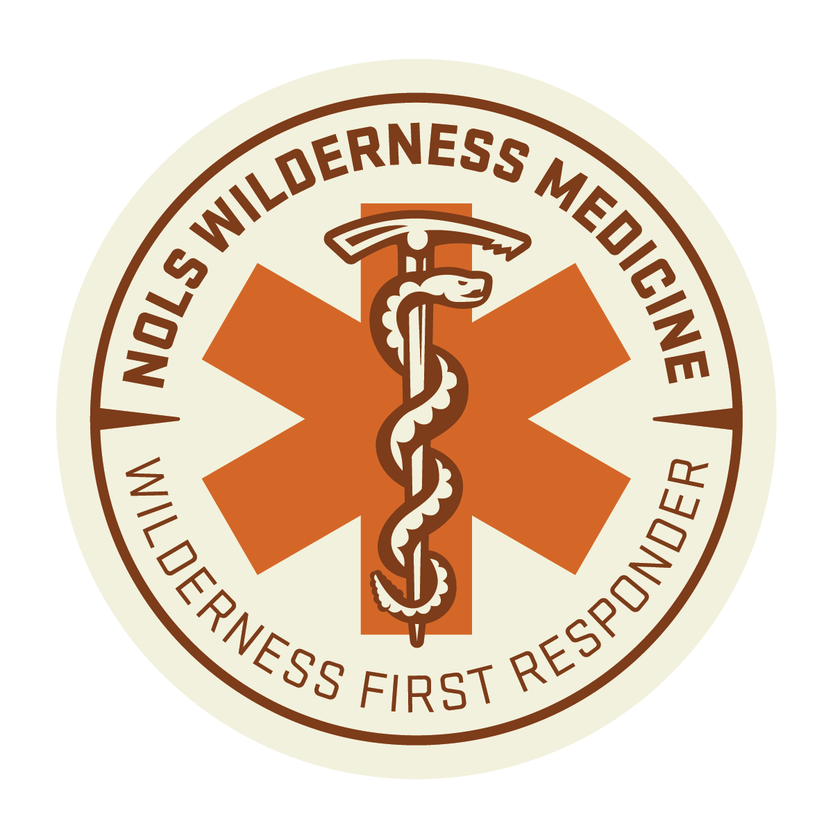 Wilderness First Responder Badge from NOLS Wilderness Medicine